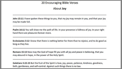 Bible Verses About Joy