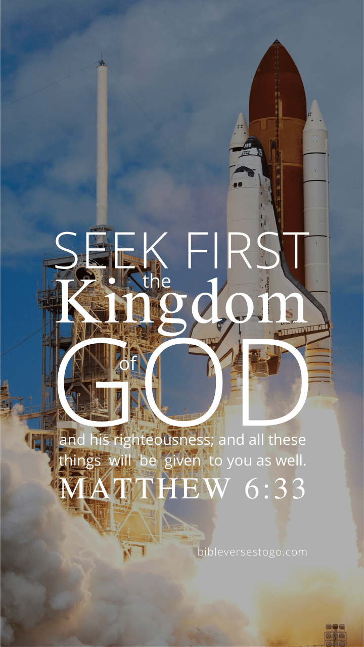 Christian Wallpaper – Launch Matthew 6:33