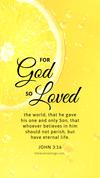 Christian Wallpaper - Lemon John 3:16