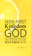 Christian Wallpaper – Lemon Matthew 6:33