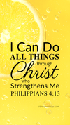 Christian Wallpaper - Lemon Philippians 4:13