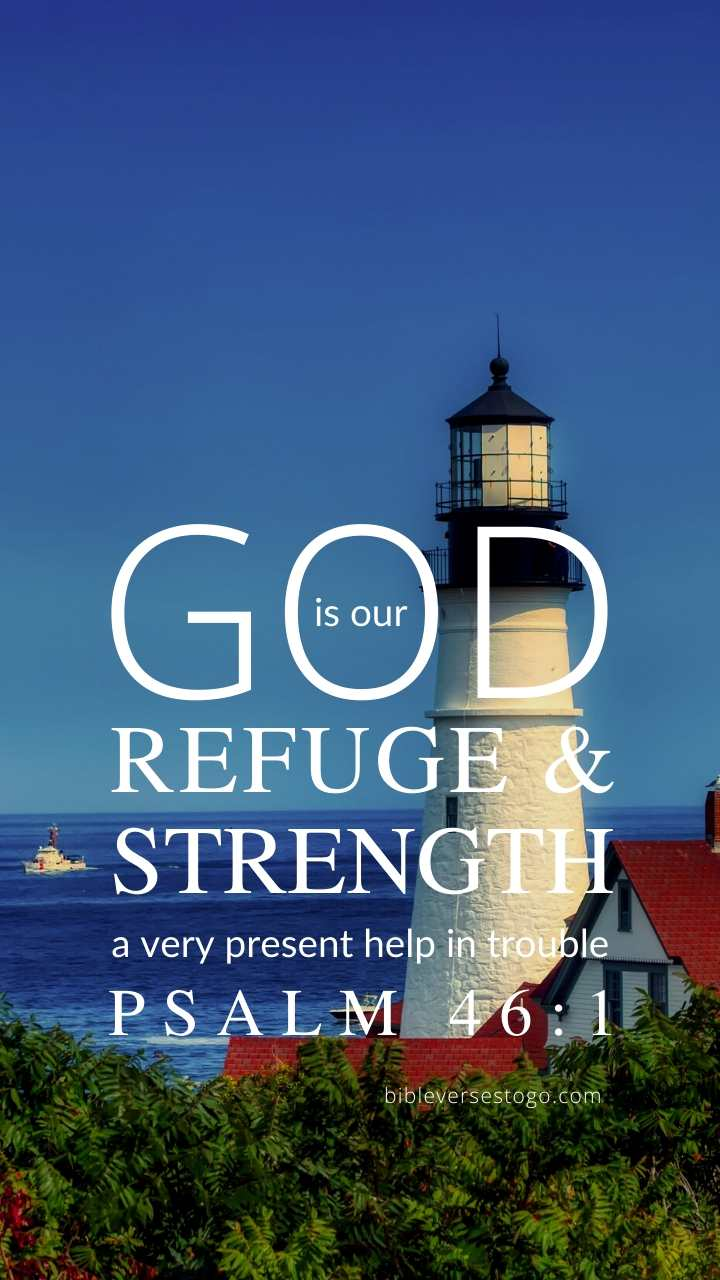 Christian Wallpaper - Lighthouse Psalm 46:1