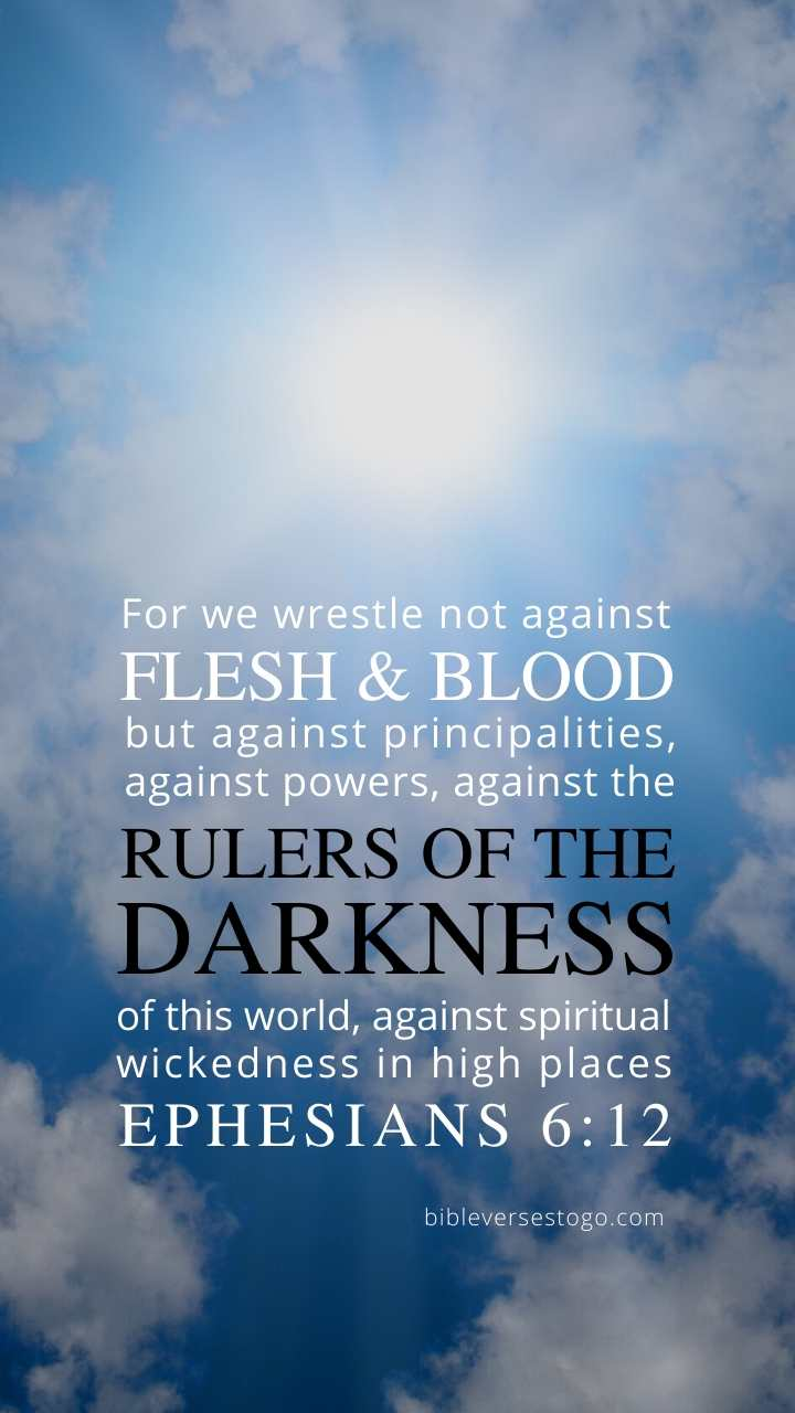 Christian Wallpaper - Light n Dark Ephesians 6:12