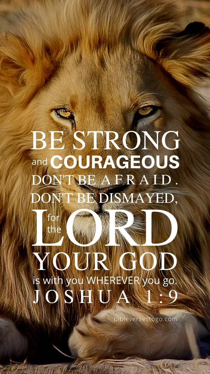 Christian Wallpaper - Lion Joshua 1:9