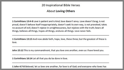 Love Others Bible Verses