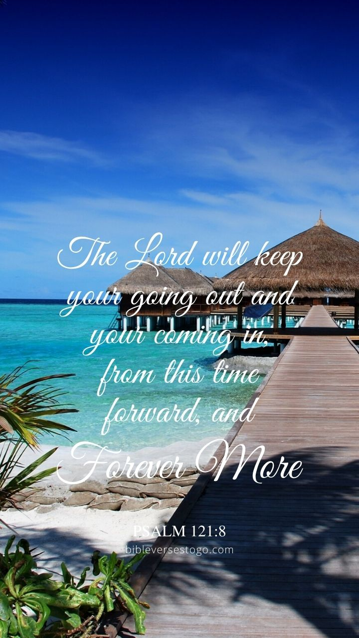 Christian Wallpaper - Maldives Path Psalm 121:8