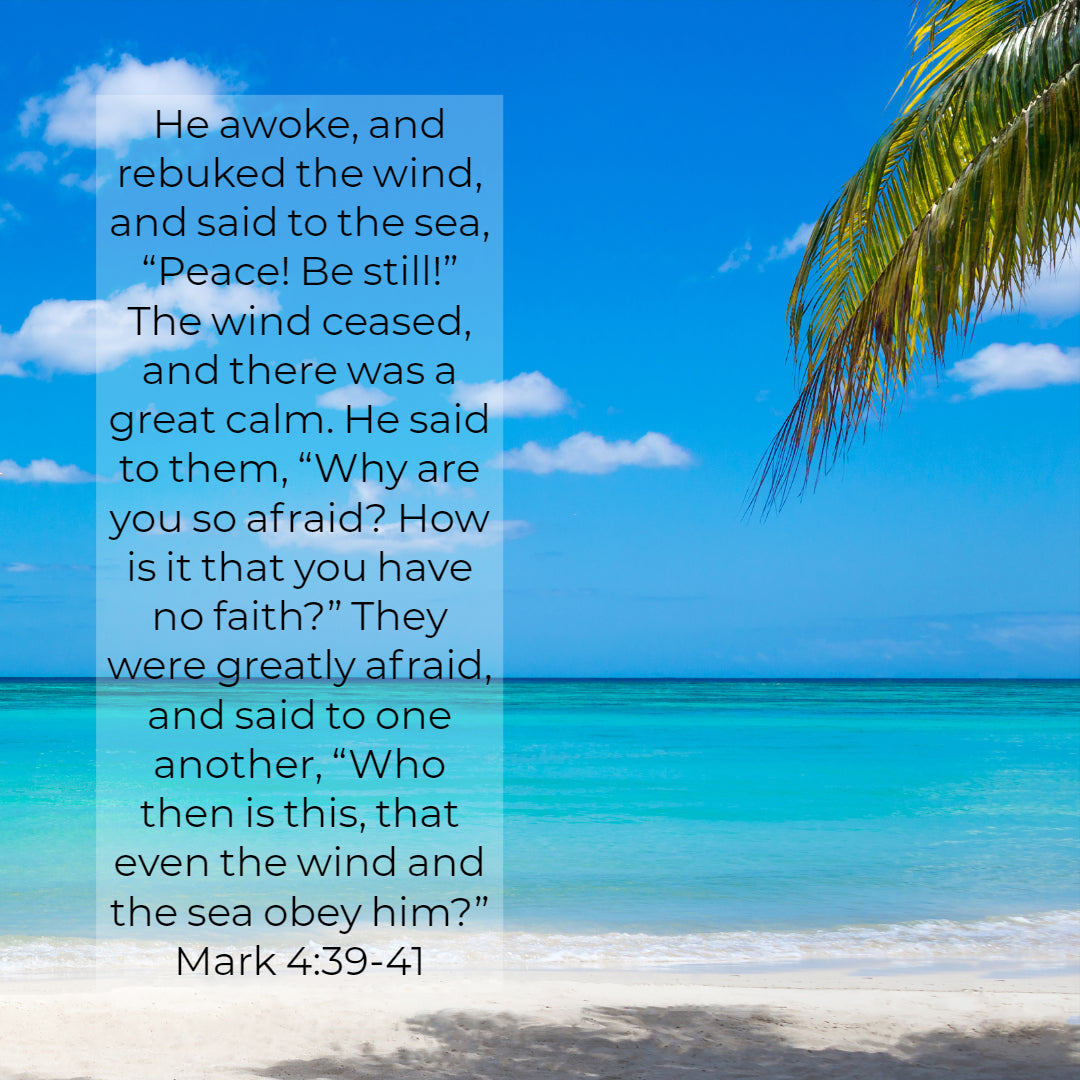 Mark 4:39-41 - Peace Be Still - Free Art Download – Bible Verses To Go