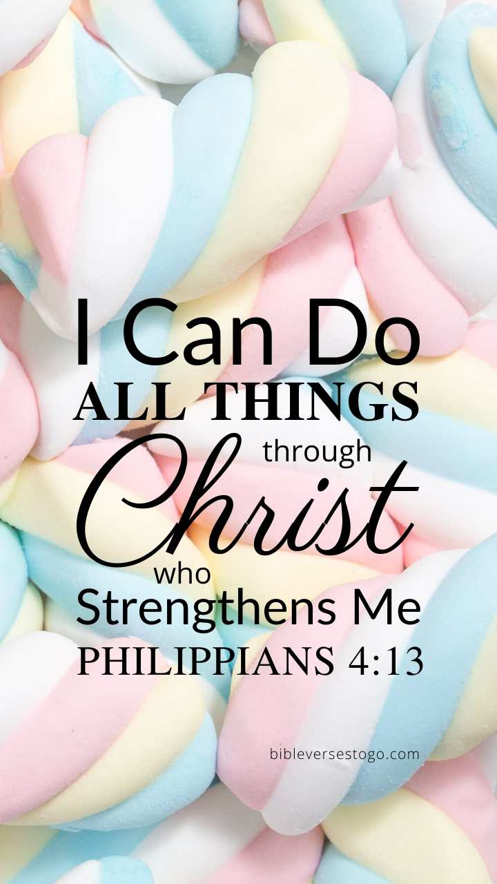 Christian Wallpaper – Marshmallow Philippians 4:13
