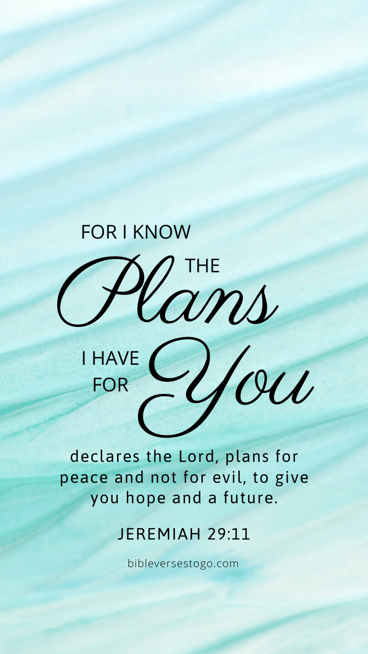 Christian Wallpaper - Mint Lines Jeremiah 29:11