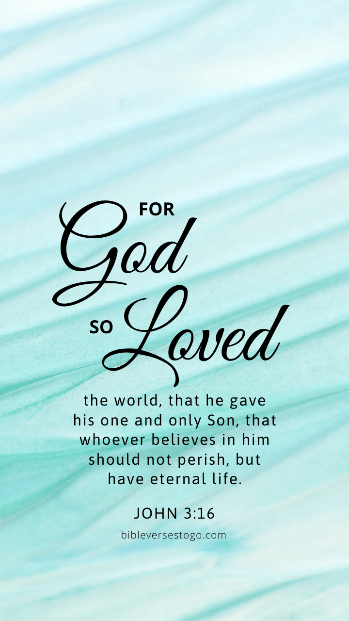 Christian Wallpaper - Mint Lines John 3:16