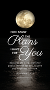 Christian Wallpaper - Moonlight Jeremiah 29:11