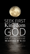 Christian Wallpaper – Moonlight Matthew 6:33