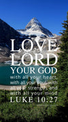 Christian Wallpaper - Mountain Lake Luke 10:27