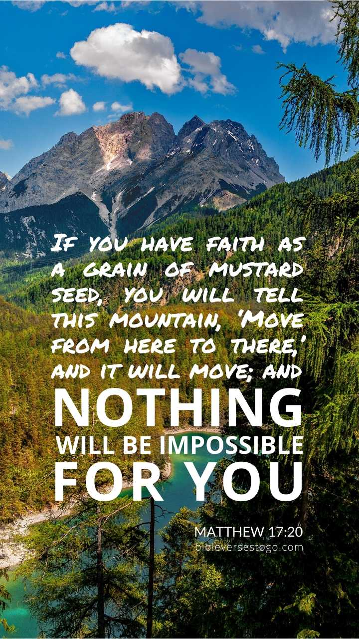Christian Wallpaper - Mountain Majesty Matthew 17:20