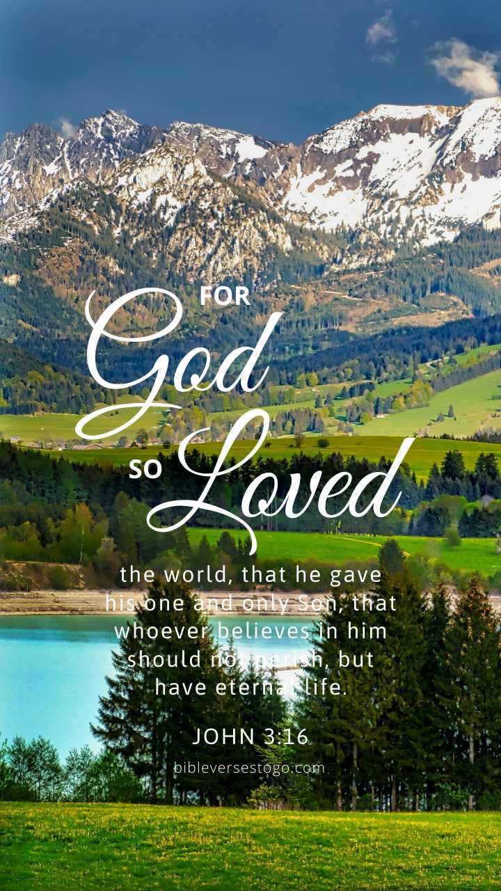 Christian Wallpaper – Mountains John 3:16