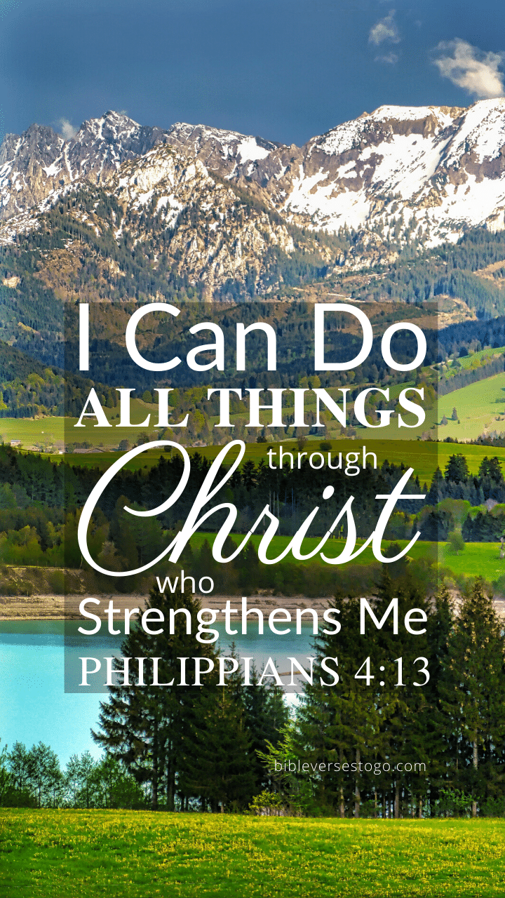 Christian Wallpaper – Mountains Philippians 4:13