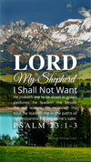 Christian Wallpaper – Mountains Psalm 23:1-3