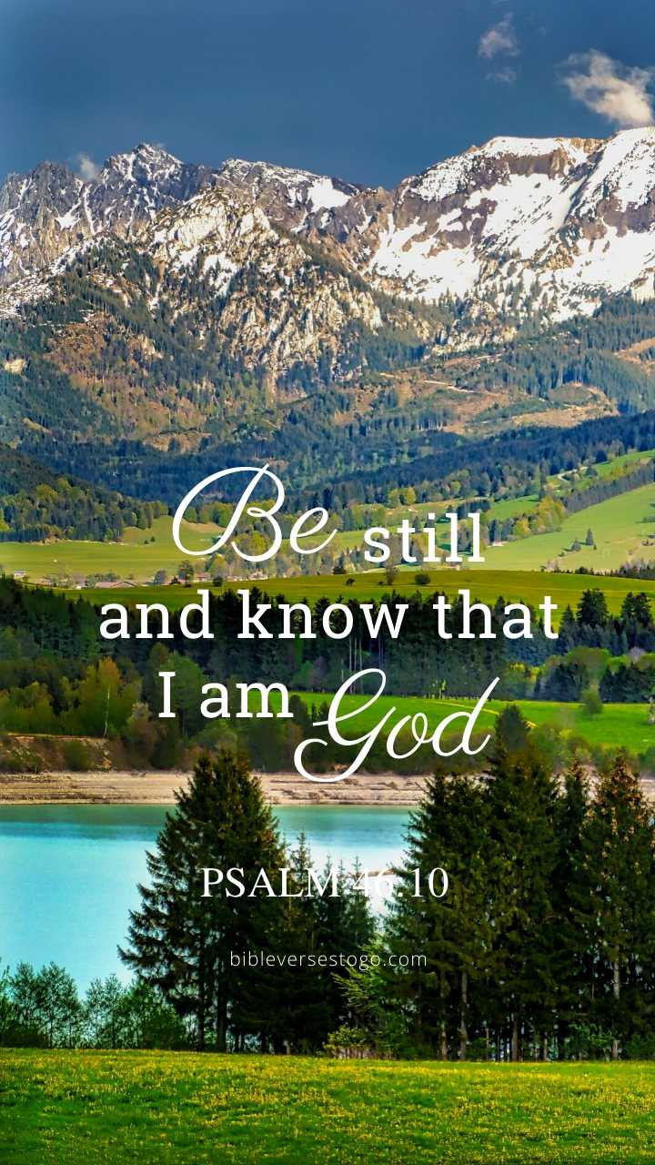 Christian Wallpaper – Mountains Psalm 46:10