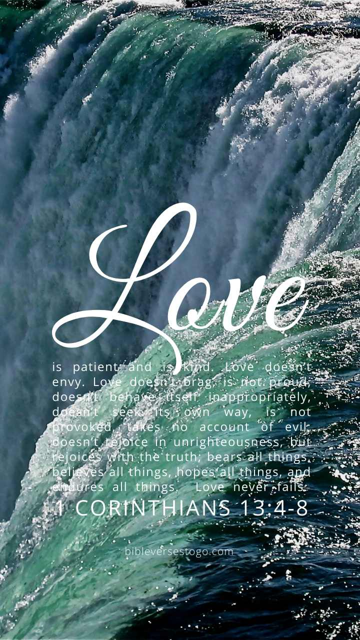 Christian Wallpaper – Niagara 1 Corinthians 13:4-8