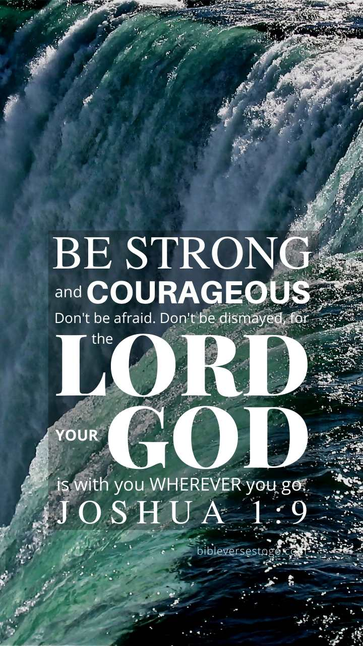 Christian Wallpaper – Niagara  Joshua 1:9