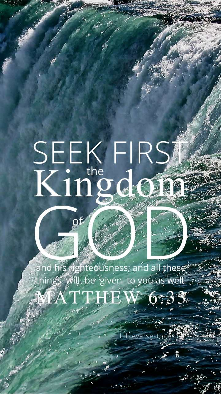 Christian Wallpaper – Niagara Matthew 6:33