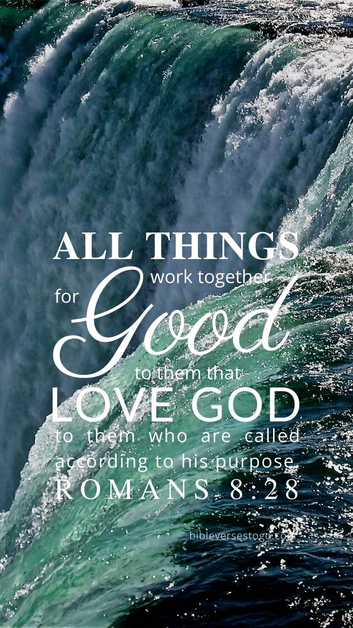 Christian Wallpaper – Niagara Romans 8:28