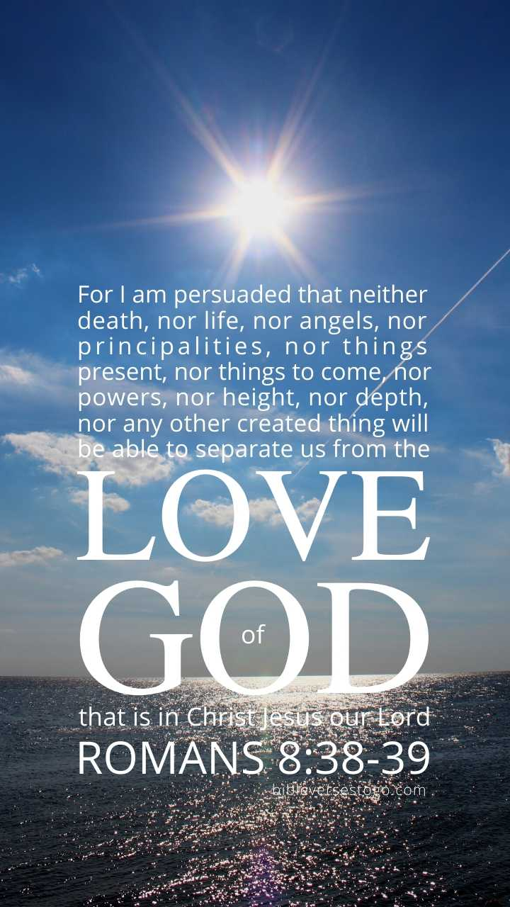 Christian Wallpaper - North Sea Romans 8:38-39