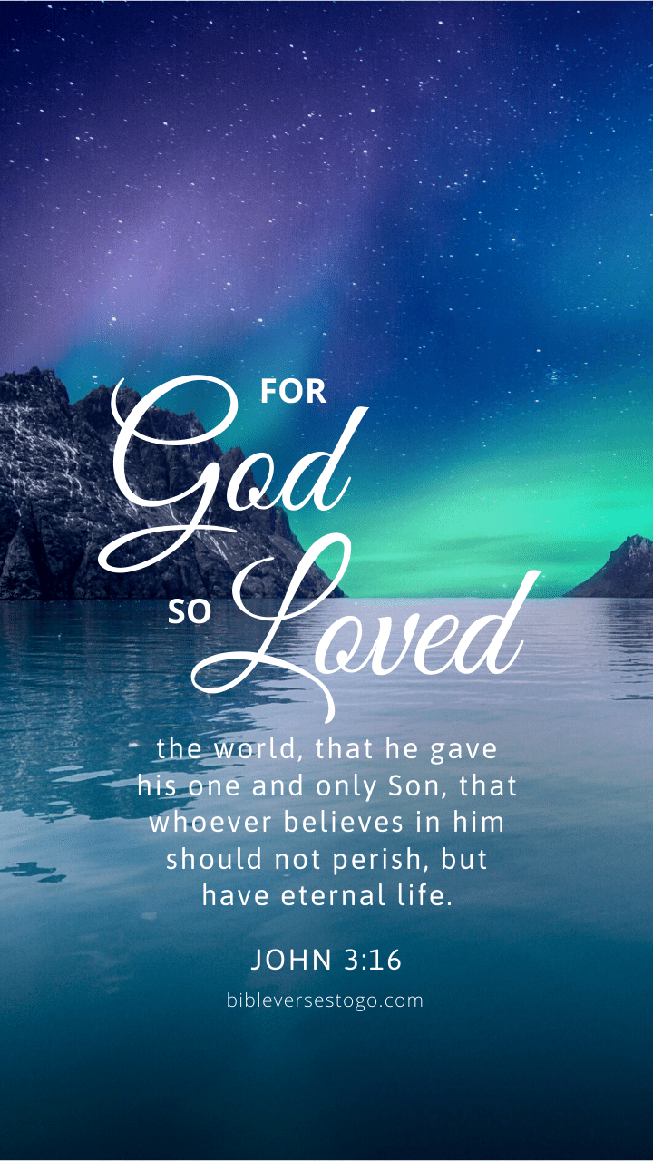 Christian Wallpaper - Northlight John 3:16