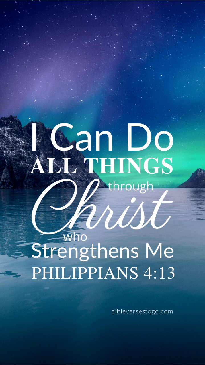 Christian Wallpaper - Northlight Philippians 4:13