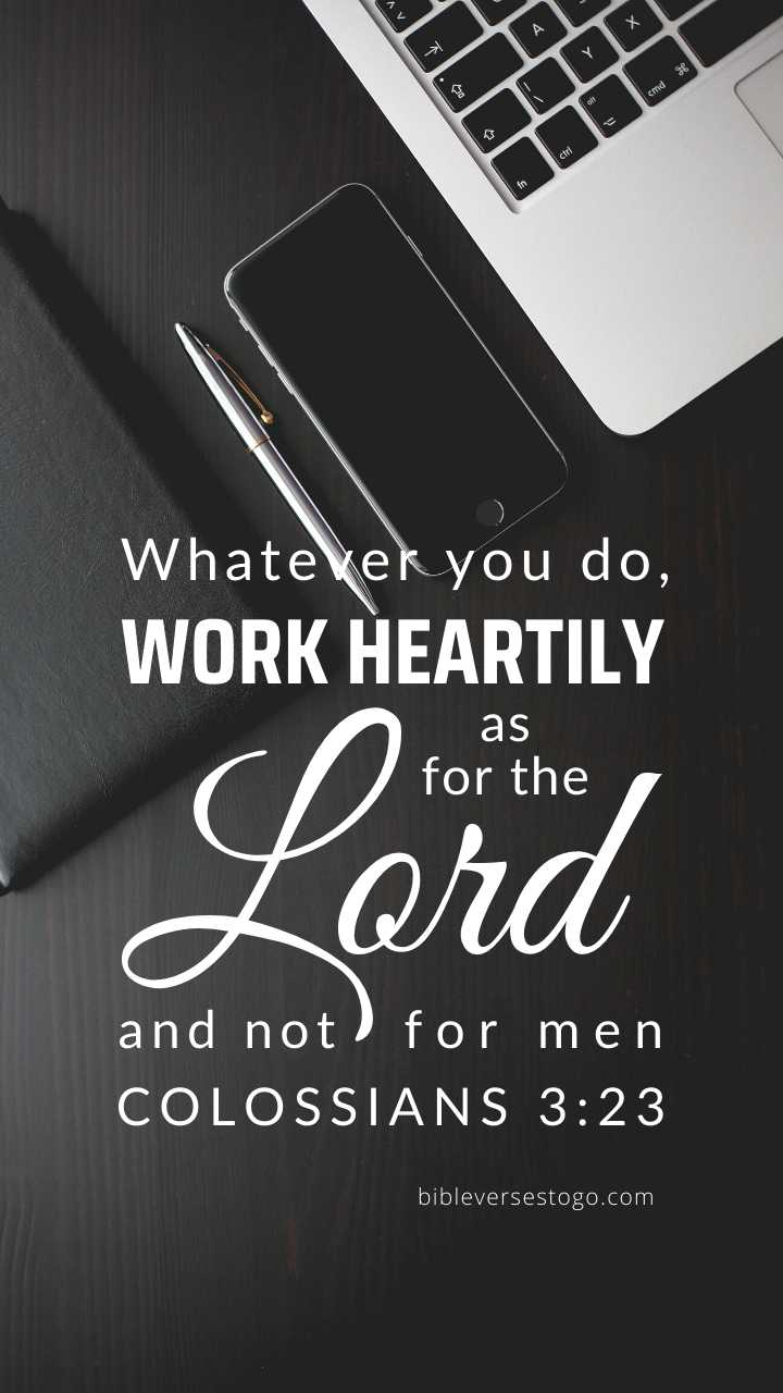 Christian Wallpaper - Office Colossians 3:23