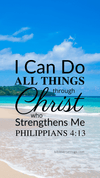 Christian Wallpaper – Paradise Philippians 4:13