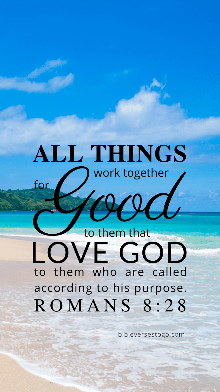 Christian Wallpaper – Paradise Romans 8:28