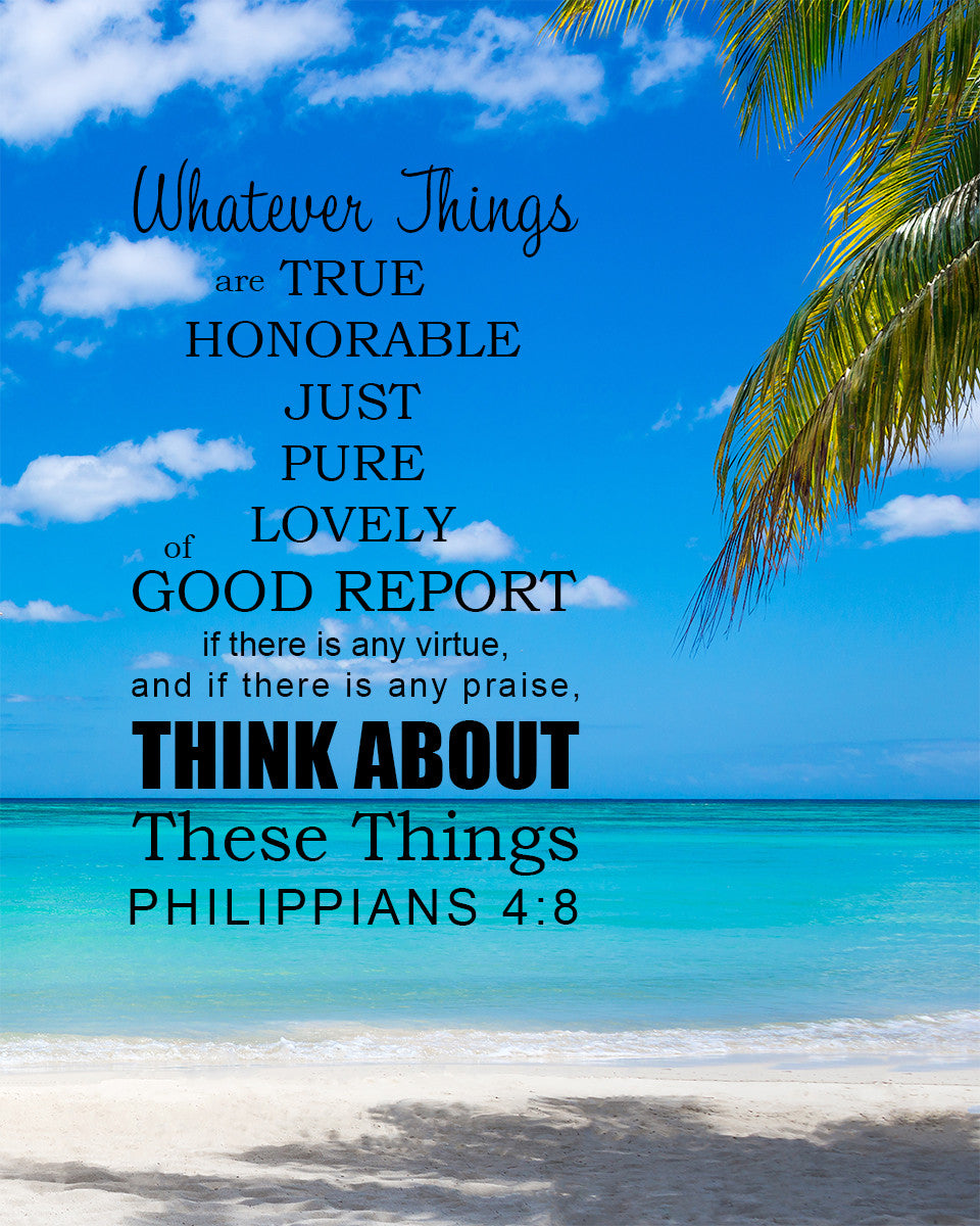 Philippians 4:8 Whatever Is Pure - Free Bible Verse Art