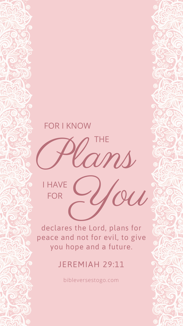 Christian Wallpaper – Pink Lace2 Jeremiah 29:11