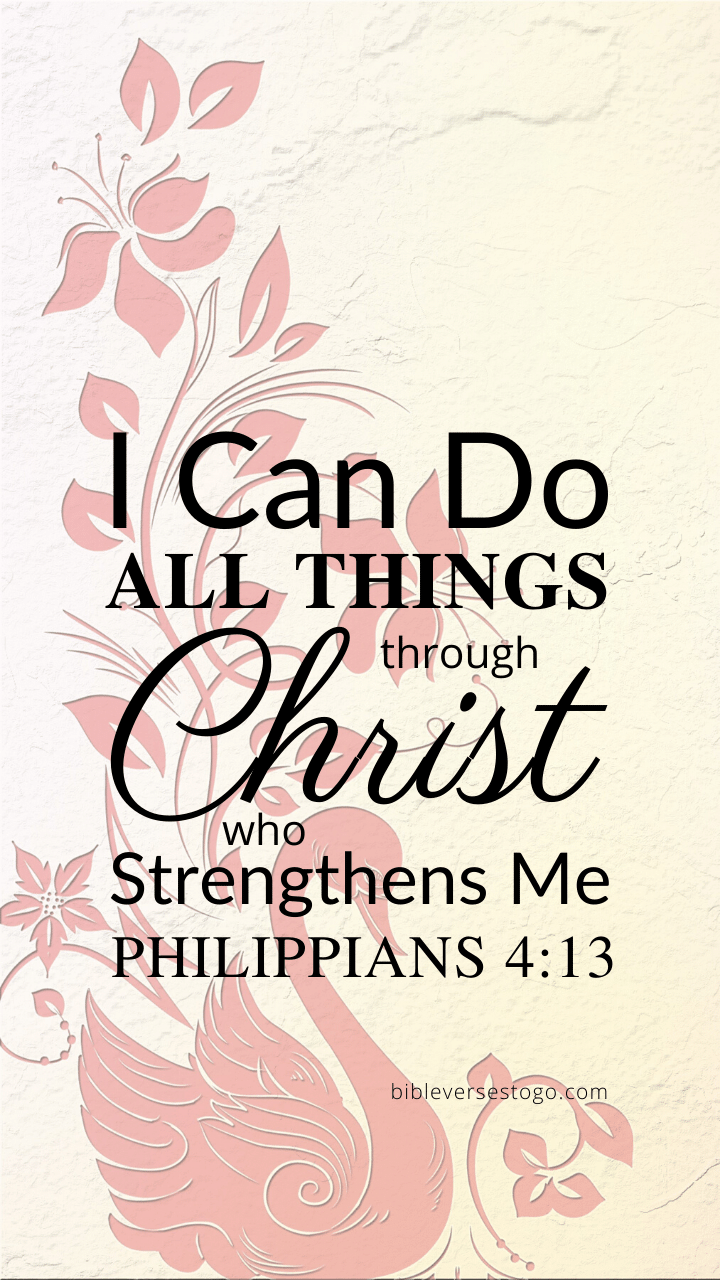 Christian Wallpaper – Pink Swan Philippians 4:13