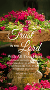 Christian Wallpaper – Planter Proverbs 3:5-6
