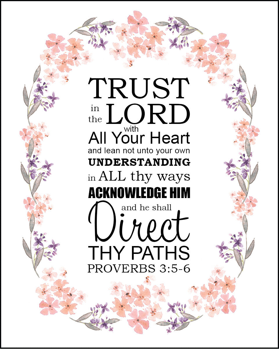 Image result for proverbs 3 5 6