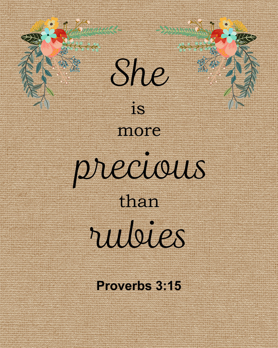 Proverbs 3 15 More Precious Than Rubies Free Bible Verse