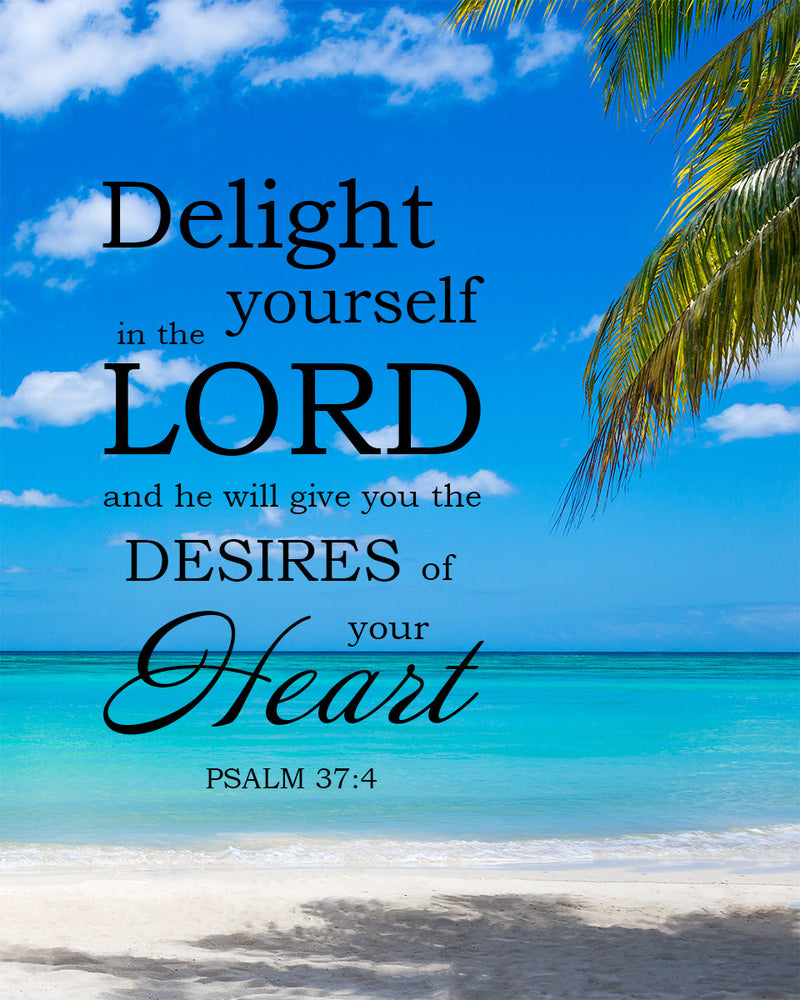 Psalm 374 Delight Yourself In The Lord - Free Bible Art -4045