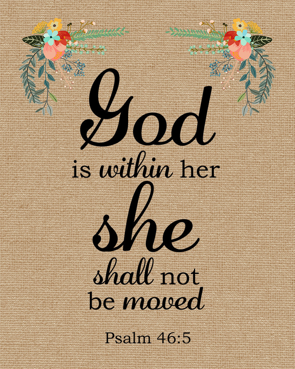 Uplifting Scriptures: Psalm 46:5 God Is Within Her