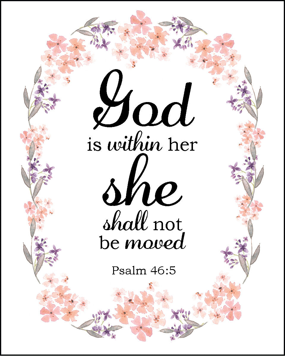 Psalm 46 5 God Is Within Her Free Bible Verse Art