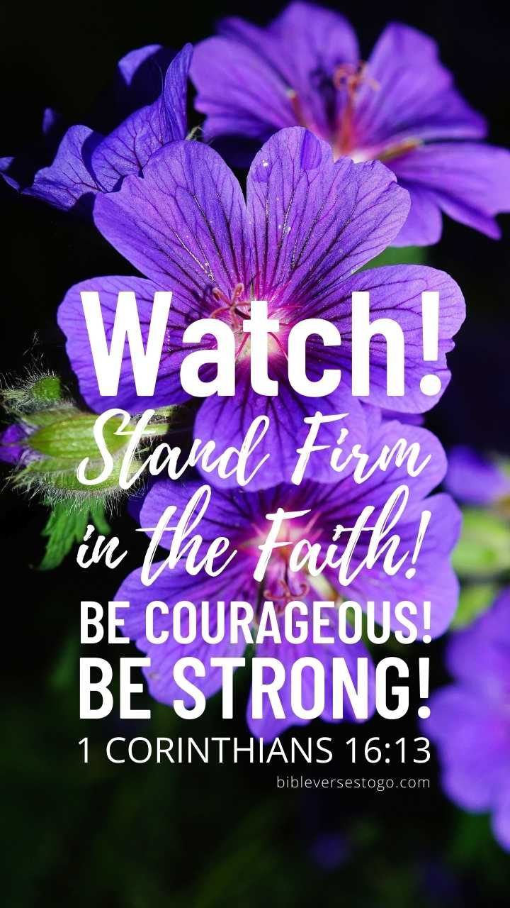 Christian Wallpaper - Purple n Blue 1 Corinthians 16:13
