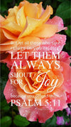 Christian Wallpaper - Rainbow Roses Psalm 5:11