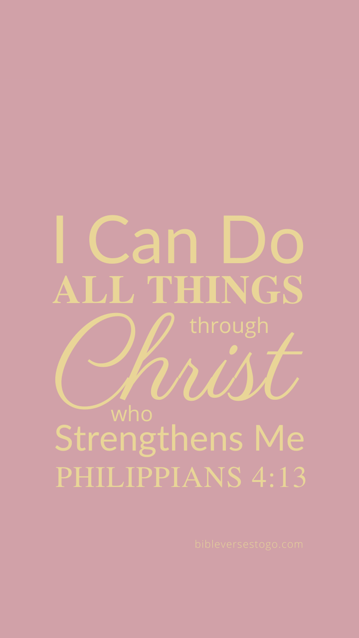 Rose Gold Philippians 4 13 Bible Verses To Go