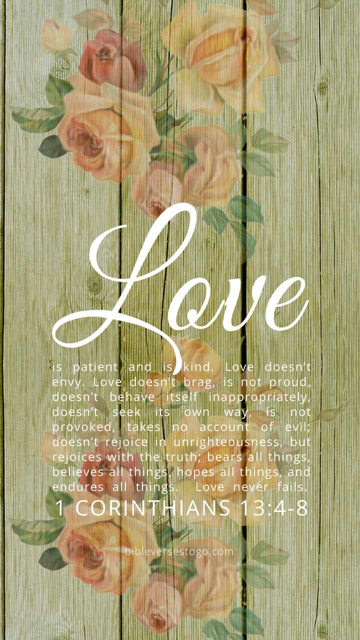 Christian Wallpaper - 1 Corinthians 13:4-8