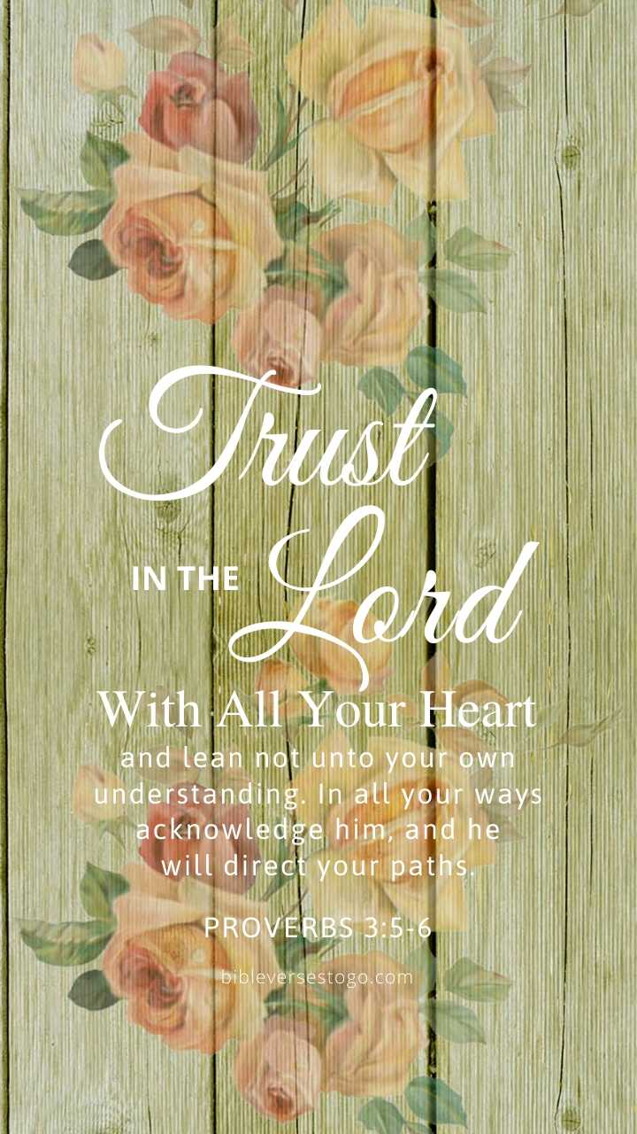 Christian Wallpaper – Floral Wood Proverbs 3:5-6