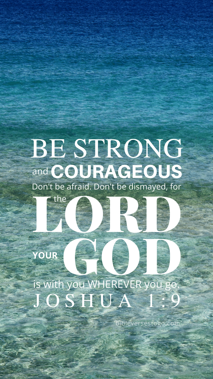 Christian Wallpaper – Sea Joshua 1:9