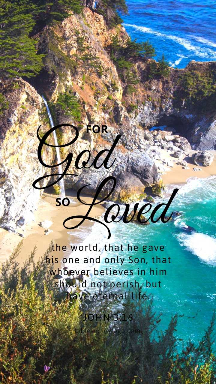 Christian Wallpaper - Seaside2 John 3:16