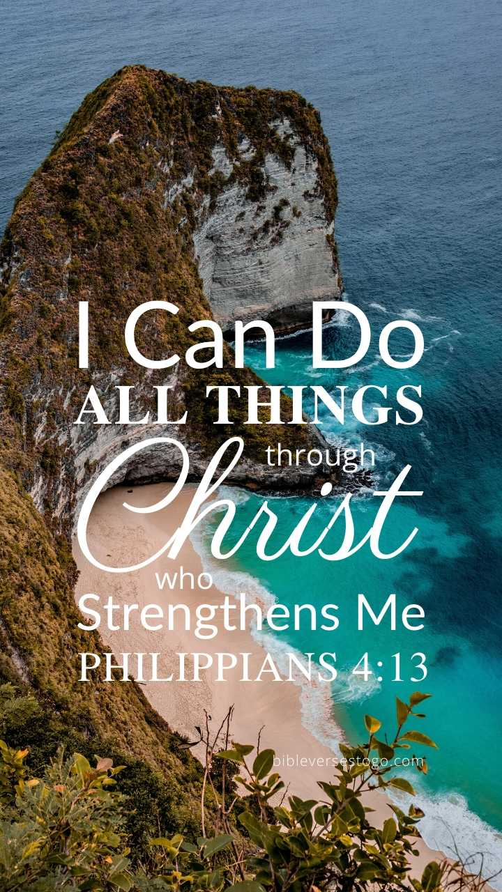 Christian Wallpaper - Seaside Philippians 4:13