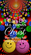 Christian Wallpaper – Smiley Philippians 4:13